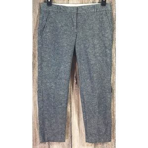 J. Crew Blue Denim Look Chino Cropped Ankle Pants